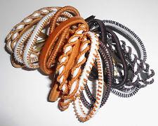 Lot de 24 élastiques différentes formes et motifs couleur marron blanc ELA026D
