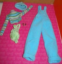 New Barbie Cool Blue Cordoroy Outfit - JRFB / Overalls, backpack, hat shirt +