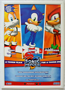 Sonic Heroes RARE PS2 Gamecube 42cm x 59cm Promotional Poster #2
