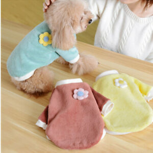 Cute Pet Dog Cat Warm Fleece Vest Clothes Coat For Puppy Sweater Winter Apparels