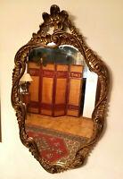 Specchiera da Muro con Cornice Legno e Gesso Stile Antico