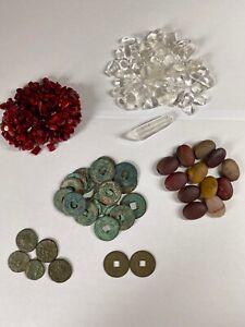 Edelsteine Konvolut, Goldschmiedewerkzeug, Antike Münzen