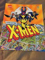 "NEW VINTAGE X-MEN LOOK & FIND 1992 MARVEL COMICS 11"" X 9""!!"