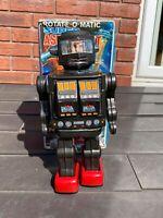 Horikawa Tinplate Battery Operated Super Astronaut Robot In Original Box -  RARE