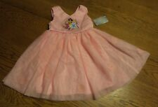 Sz 2 Disney Store Princess Pink Tulle Costume Dress Up Pink Princess Gown NEW