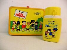 Vintage 1973 King-Seeley Wee Pals Kid Power! Metal Lunchbox With Thermos