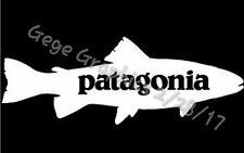 "Patagonia Fish Bear Decal Sticker 10"" Inches Wide Large"