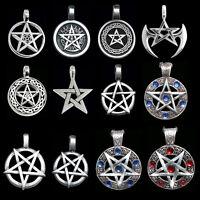 Pentagram Pewter Pendant Necklace, Celtic Gothic  12 Styles
