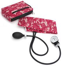 Prestige BP Cuff Pink Camo Case Adult Sphygmomanometer Aneroid Latex Free 882
