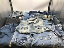 Bulk Clothing Lot: 10 Jacket Men Various Vintage Denim Size Large
