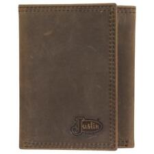 Justin Western Mens Wallet Trifold Leather Dark Taupe 1920568W2