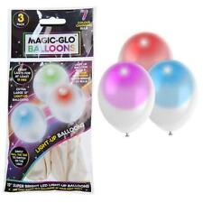 Birthday Party Magic Glow Colour Changing Light Up 30cm Balloons – Pack 3