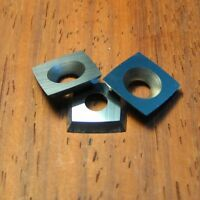 "11mm Square Carbide insert 2"" Radius for Ci2 Easy Wood Tools 3 PACK + Screws!"