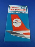 DAN AIR SKYWAYS AIRLINE TIMETABLE SUMMER 1973 SCHEDULE ADVERTISE LONDON ENGLAND
