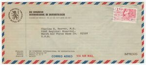1977 Oct 16th. Advertising Air Mail Cover. Mexico to March Air Force Base, Ca.