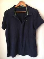 """Eddie Bauer color navy taglia L 42"""" Cotone Polo T-shirt Top < T14267"""