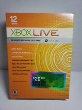 New sealed XBOX LIVE 12 Month Premium Gold Pack XBOX 360 headset bundle rare!