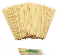 100 BBQ BAMBOO WOODEN SKEWERS 15CM STICKS GRILL SHISH KEBAB FRUIT BARBECUE PARTY