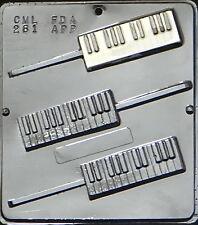 Piano Keyboard Lollipop Chocolate Candy Mold  261 NEW