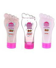 Set Of 3 The Foot Factory Very Berry 180 ml Foot Soak Lotion Scrub
