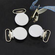 10x Round Suspender Bib Baby Pacifier Clips Holder Buckles Mitten Clip Hook New