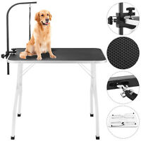 """New Large 36"""" Pet Grooming Table Dog Cat Adjustable w/Arm & Noose Professional"""