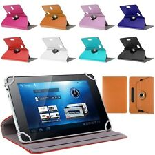"Universal 360 Rotatable Leather Stand Case Cover For 7 8 9 10"" Android Tablet"