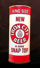 IRON CITY BEER KING SIZE NEW SNAP TOP - EARLY 1960'S 16OZ ZIP TAB CAN PITTSBURGH