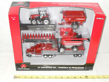 Massey Ferguson Harvesting Set With 9795 Combine   By Ertl  1/64th Scale
