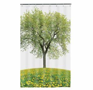 "Maytex Seasons PEVA Tree Shower Curtain - 70"" X 72"" Green NEW"