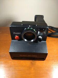 Vintage Polaroid Pronto SX-70 Instant Film Land Camera W/ Strap Utested