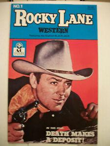 AC Comics ROCKY LANE WESTERN #1 (1989) Photo Cover
