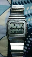 Vintage Seiko A714-5050 Running Man Alarm Chrono Digital LCD watch