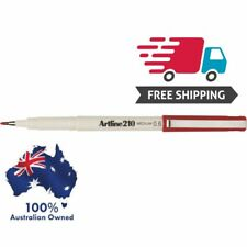 Artline 210 RED 0.6mm Medium Fine Line Pens