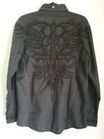 Buckle Black Roar Mens Signature Embroidered Long Sleeve Button Front Shirt L