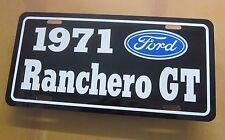 1971 Ford Ranchero Gt License Plate Tag 71 351 Cleveland 429 Super Cobra Jet