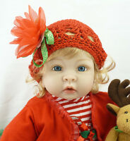 Cute 22'' Reborn Baby Girl Doll Alive Handmade Vinyl Silicone Toddler Toys Gifts