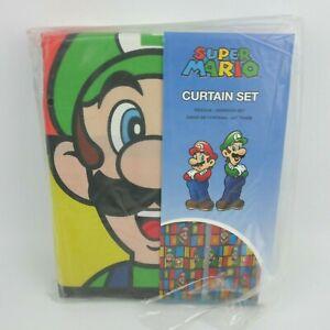 New Official Licenced Super Mario Curtain Set | 168cm  x 183cm | Mario & Luigi