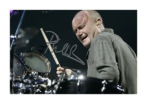 Phil Collins 1 A4 reproduction autograph photograph poster choice of frame