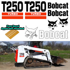 Bobcat T250 Turbo Skid Steer Set Vinyl Decal Sticker bob cat + DECAL APPLICATOR
