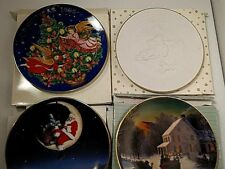 4 Avon Christmas Collectible Plates 1985,1988, 1995, 1998 All Rimmed in 22K/24K