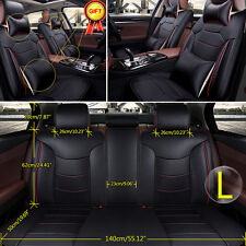 5-Seat Full Set Car Seat Cover Mat Top Grade Microfiber Leather Front Rear Liner