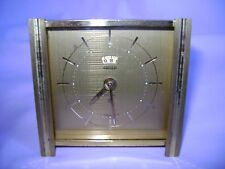VINTAGE JAEGER 8 DAY RECITAL DESK / ALARM CLOCK  IN GOOD WORKING ORDER
