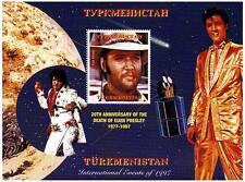 ELVIS PRESLEY IN COWBOY HAT TURKMENISTAN 1997 MNH STAMP SHEETLET