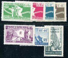 FRANZÖSISCHE KOLONIEN 1943 Yvert 60-66,PA1 ** POSTFRISCH 24€(F3402