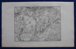 Original antique map, BATTLE OF AUSTERLITZ, CZECH REPUBLIC, Dufour, 1859