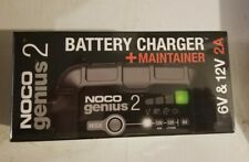 NOCO GENIUS2 Battery Charger and Maintainer 2 Amp 6/12 Volt New in BX Ships FREE