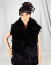 Adrienne Landau Fox Fur Vest with Rabbit Fur Back Small or Large $795 MSRP NWT