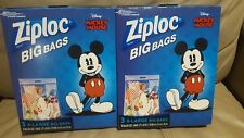 2x Mickey Mouse Ziploc Big Bags Disney 3 XL Storage Bags 10 Gallon Size NWB