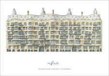 Antoni GAUDI casa mila poster stampa d'arte immagine 84x56cm